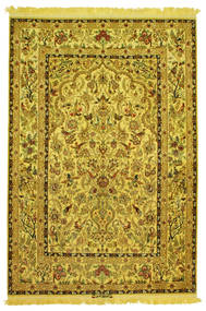 Isfahan Seide Kette Figurativ Signatur: Nasr Teppich  142X210 Echter Orientalischer Handgeknüpfter (Wolle/Seide, Persien/Iran)
