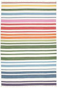 Rainbow Stripe - Weiß Teppich  200X300 Echter Moderner Handgewebter Weiß/Creme (Baumwolle, Indien)