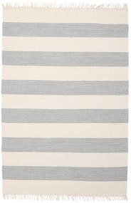 Cotton Stripe - Steel Grey Teppich  140X200 Echter Moderner Handgewebter Beige/Hellgrau (Baumwolle, Indien)