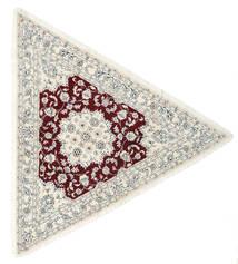 Nain 9La Teppich  250X250 Echter Orientalischer Handgeknüpfter Beige/Hellgrau Großer (Wolle/Seide, Persien/Iran)