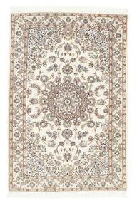 Nain 6La Teppich  102X155 Echter Orientalischer Handgeknüpfter Beige/Hellgrau (Wolle/Seide, Persien/Iran)