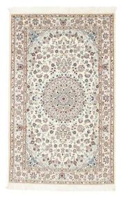 Nain 6La Teppich  100X160 Echter Orientalischer Handgeknüpfter Beige/Hellgrau (Wolle/Seide, Persien/Iran)