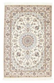 Nain 6La Teppich  100X152 Echter Orientalischer Handgeknüpfter Beige/Hellgrau (Wolle/Seide, Persien/Iran)