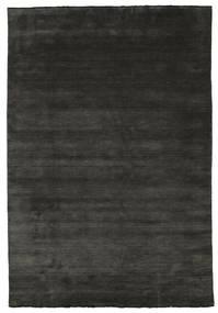 Handloom Fringes - Schwarz/Grau Teppich  220X320 Moderner Schwartz/Dunkelgrau (Wolle, Indien)