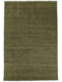 Handloom Fringes - Grün Teppich  250X350 Moderner Olivgrün Großer (Wolle, Indien)