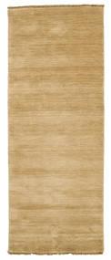 Handloom Fringes - Beige Teppich 80X200 Moderner Läufer Dunkel Beige/Beige (Wolle, Indien)