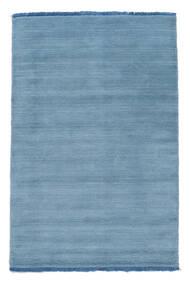 Handloom Fringes - Hellblau Teppich  140X200 Moderner Hellblau (Wolle, Indien)