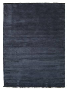 Handloom Fringes - Dunkelblau Teppich  140X200 Moderner Dunkelblau/Blau (Wolle, Indien)