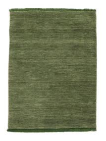 Handloom Fringes - Grün Teppich  140X200 Moderner Olivgrün/Dunkelgrün (Wolle, Indien)