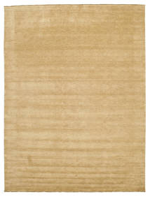Handloom Fringes - Beige Teppich  300X400 Moderner Dunkel Beige/Beige Großer (Wolle, Indien)