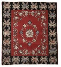 Kelim Halbantik Teppich 275X310 Echter Orientalischer Handgewebter Rost/Rot/Dunkelgrau Großer (Wolle, Slowenien)