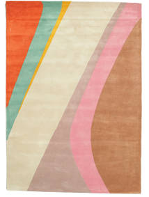 Dynamic Handtufted - Rosa Teppich  140X200 Moderner Hellrosa/Beige (Wolle, Indien)