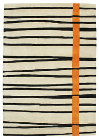 Gummi Twist Handtufted - Orange Teppich  160X230 Moderner Dunkel Beige/Beige/Schwartz (Wolle, Indien)