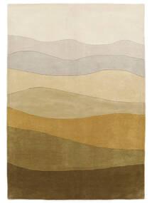 Feeling Handtufted - Braun Teppich  160X230 Moderner Dunkel Beige/Olivgrün (Wolle, Indien)