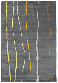 Flaws Handtufted - Grau Teppich  200X300 Moderner Hellgrau/Dunkelgrau/Blau (Wolle, Indien)