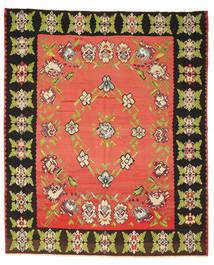 Kelim Halbantik Teppich 260X305 Echter Orientalischer Handgewebter Rot/Dunkelgrau Großer (Wolle, Slowenien)