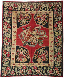 Kelim Halbantik Teppich 287X355 Echter Orientalischer Handgewebter Dunkelrot/Schwartz Großer (Wolle, Slowenien)