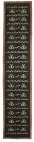 Kelim Bulgarian Teppich 174X850 Echter Orientalischer Handgewebter Läufer Dunkelgrau (Wolle, Bulgarien)