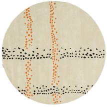 Delight Handtufted - Orange Teppich  Ø 200 Moderner Rund Dunkel Beige (Wolle, Indien)
