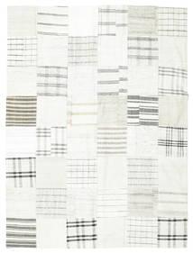 Kelim Patchwork Teppich  170X227 Echter Moderner Handgewebter Beige/Hellgrau (Wolle, Türkei)