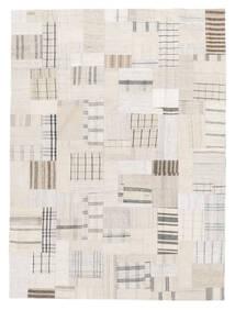 Kelim Patchwork Teppich  170X229 Echter Moderner Handgewebter Beige/Weiß/Creme (Wolle, Türkei)