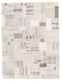 Kelim Patchwork Teppich  171X230 Echter Moderner Handgewebter Beige/Weiß/Creme (Wolle, Türkei)