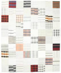 Kelim Patchwork Teppich  250X304 Echter Moderner Handgewebter Weiß/Creme/Beige Großer (Wolle, Türkei)