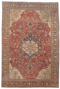 Farahan Teppich 368X550 Echter Orientalischer Handgeknüpfter Dunkelrot/Braun Großer (Wolle, Persien/Iran)