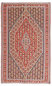 Kelim Senneh Teppich 150X245 Echter Orientalischer Handgewebter Braun/Rost/Rot (Wolle, Persien/Iran)