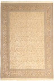 Isfahan Seidenkette Signatur: Dardashti Teppich  250X350 Echter Orientalischer Handgeknüpfter Beige/Hellbraun Großer (Wolle/Seide, Persien/Iran)