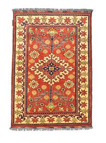 Afghan Kargahi Teppich 84X122 Echter Orientalischer Handgeknüpfter Rot/Dunkel Beige (Wolle, Afghanistan)