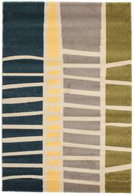 Abstract Bambus Teppich  140X200 Moderner Beige/Dunkelblau ( Türkei)