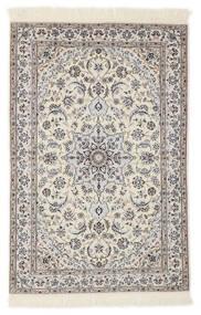 Nain 6La Teppich 103X153 Echter Orientalischer Handgeknüpfter Hellgrau/Beige/Weiß/Creme (Wolle/Seide, Persien/Iran)