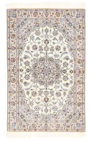 Nain 6La Teppich  100X155 Echter Orientalischer Handgeknüpfter Beige/Hellgrau (Wolle/Seide, Persien/Iran)