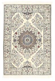 Nain 6La Teppich  100X150 Echter Orientalischer Handgeknüpfter Beige/Hellgrau (Wolle/Seide, Persien/Iran)