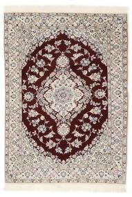 Nain 6La Teppich  102X153 Echter Orientalischer Handgeknüpfter Weiß/Creme/Hellgrau (Wolle/Seide, Persien/Iran)