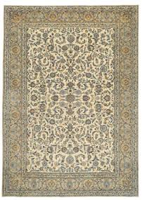 Keshan Patina Signatur: Tabatabai Teppich  275X390 Echter Orientalischer Handgeknüpfter Beige/Dunkelgrau Großer (Wolle, Persien/Iran)