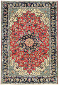 Najafabad Patina Teppich  265X380 Echter Orientalischer Handgeknüpfter Hellgrau/Schwartz Großer (Wolle, Persien/Iran)