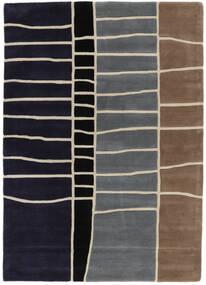 Abstract Bambus Handtufted Teppich  160X230 Moderner Dunkellila/Hellgrau (Wolle, Indien)