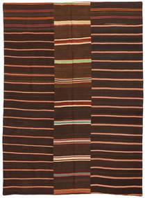 Kelim Patchwork Teppich  175X241 Echter Moderner Handgewebter Dunkelbraun/Dunkelrot (Wolle, Türkei)