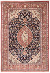 Ghom Seide Teppich  240X348 Echter Orientalischer Handgeknüpfter Braun/Beige (Seide, Persien/Iran)