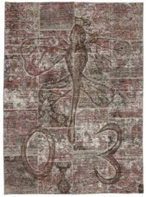 Patchwork Teppich  174X240 Echter Moderner Handgeknüpfter Dunkelgrau/Hellgrau (Wolle, Persien/Iran)