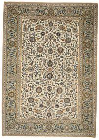 Keshan Patina Teppich 214X302 Echter Orientalischer Handgeknüpfter Hellbraun/Hellgrau (Wolle, Persien/Iran)