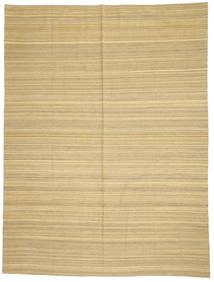 Kelim Modern Teppich  214X285 Echter Moderner Handgewebter Dunkel Beige/Beige (Wolle, Afghanistan)