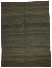 Kelim Modern Teppich  216X284 Echter Moderner Handgewebter Dunkelbraun/Dunkelgrün (Wolle, Afghanistan)