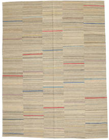 Kelim Modern Teppich  183X240 Echter Moderner Handgewebter Hellgrau/Gelb (Wolle, Afghanistan)
