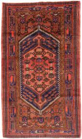 Hamadan Teppich  143X247 Echter Orientalischer Handgeknüpfter Dunkelrot/Rot (Wolle, Persien/Iran)