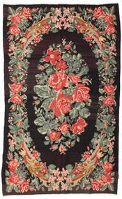 Kelim Rosen Moldavia Teppich  168X275 Echter Orientalischer Handgewebter Dunkelbraun/Dunkelgrau (Wolle, Moldawien)