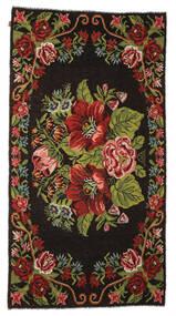 Kelim Rosen Moldavia Teppich  176X329 Echter Orientalischer Handgewebter Dunkelbraun (Wolle, Moldawien)
