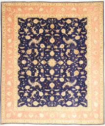 Täbriz 50 Raj Mit Seide Teppich 252X300 Echter Orientalischer Handgeknüpfter Dunkel Beige/Dunkellila Großer (Wolle/Seide, Persien/Iran)